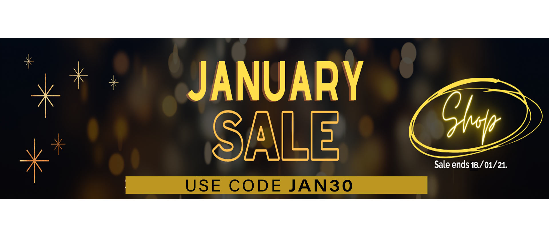 january sale banner